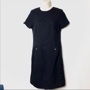 Tory Burch black mid sheath dress 6 B2